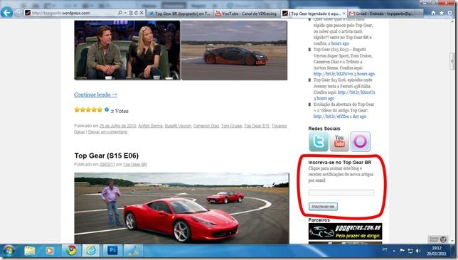 inscreva-se no Top Gear BR2
