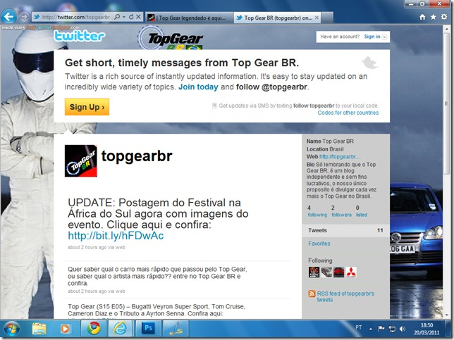 Top Gear BR no Twitter